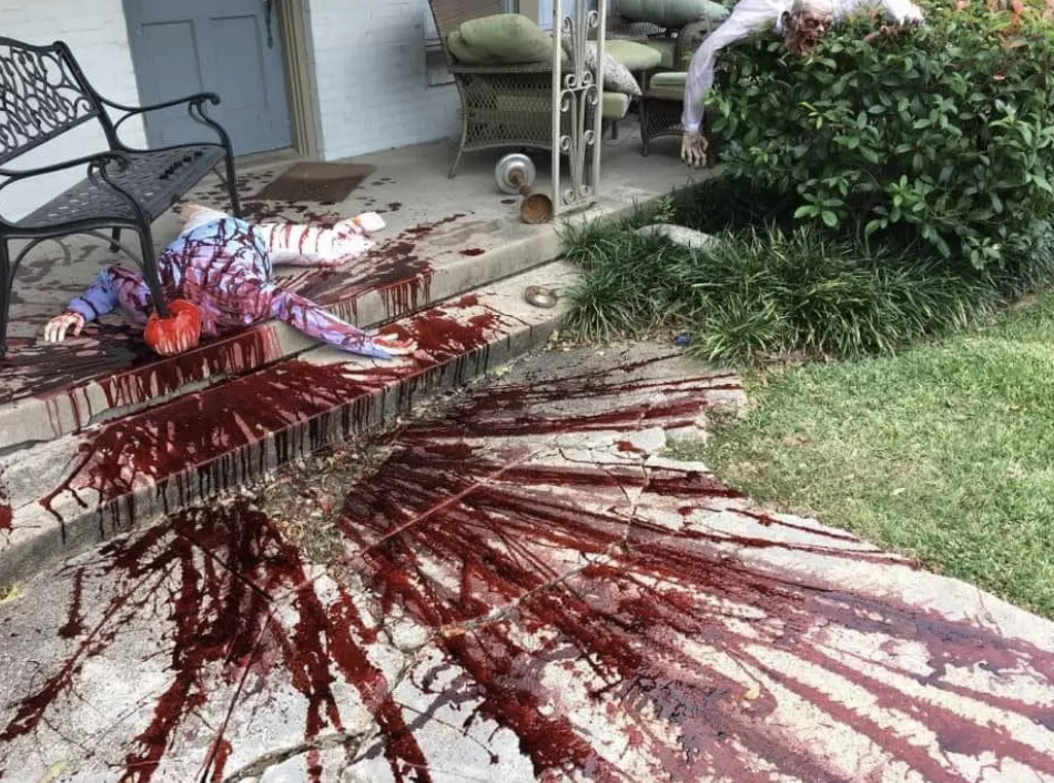 Gruesome Halloween Display